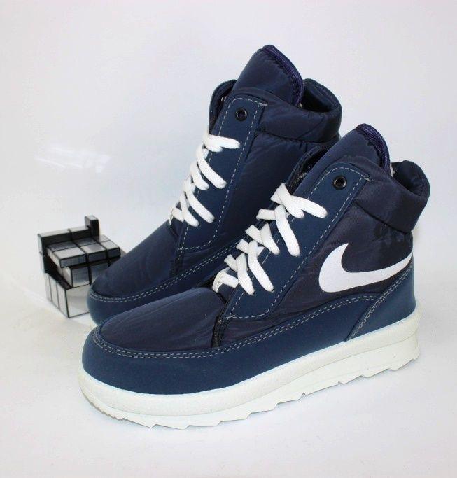 Тёплые кроссовки плащёвка G1117-синий - купить зимние кроссовки