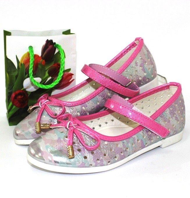 Купить детские туфли, летние туфли для девочек, детская обувь Запорожье