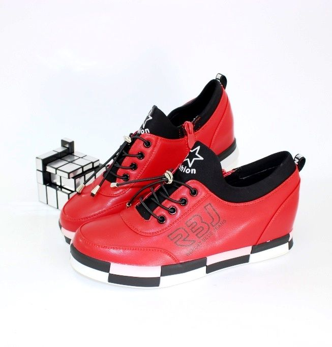 Женские ботинки сникерсы HJ6308-6 - кроссовки на платформе, купить кроссовки на танкетке