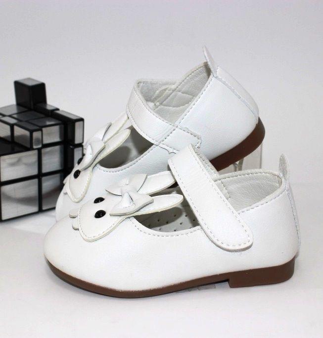 Белые весенние туфельки на девочку кожаная стелька супинатор
