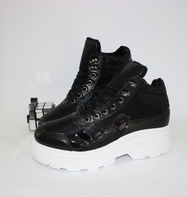 Ботинки весенние и осенние - Классные ботинки на толстой подошве IC01