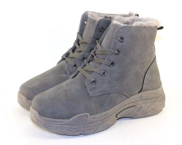 Зимние ботинки на танкетке, женские зимние ботинки купить, женская обувь Запорожье, обувь со скидкой Украина