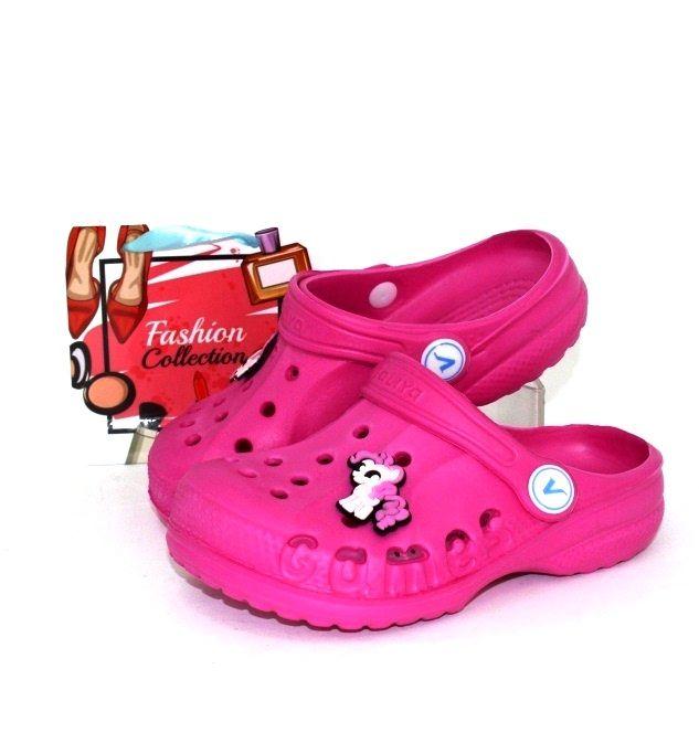 Детские босоножки Кроксы-малина -1, купить детские кроксы для девочки в интернет-магазине