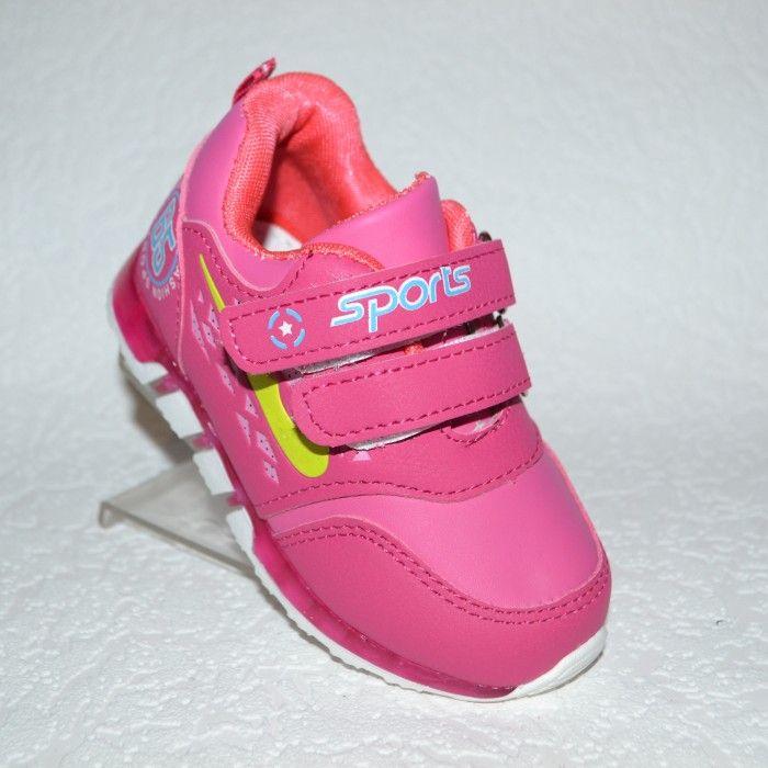 4af384ef6 кроссовки для малышей с фонариками 3508-3 малина - купить детские кроссовки  для самых маленьких девочек