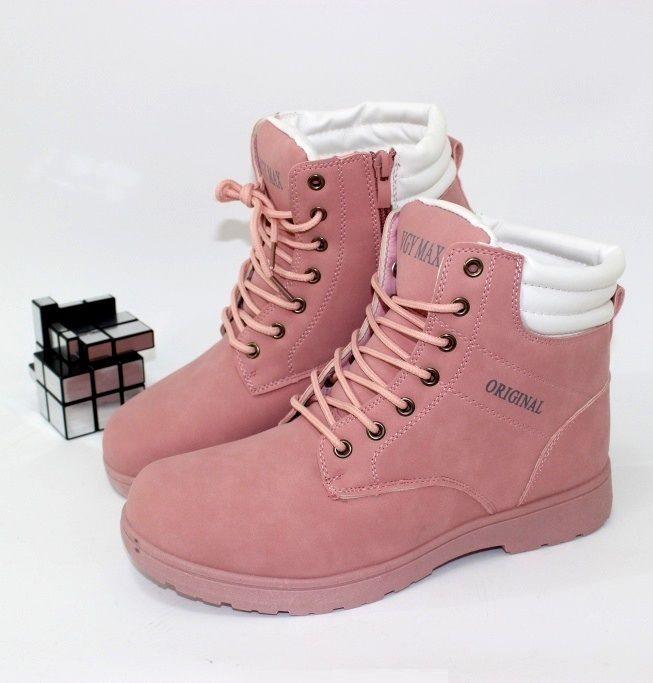 Модные розовые ботинки L798 - купить зимнюю обувь