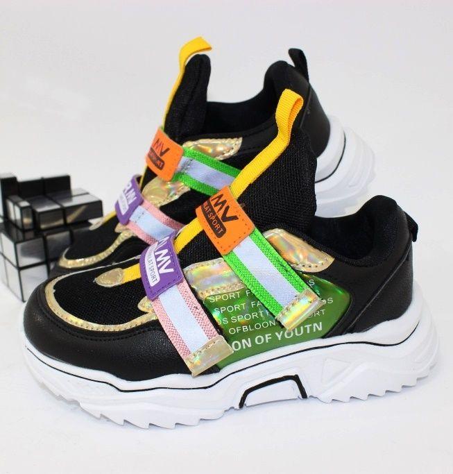 Модные детские кроссовки LA021-1 - купить девочкам для школы