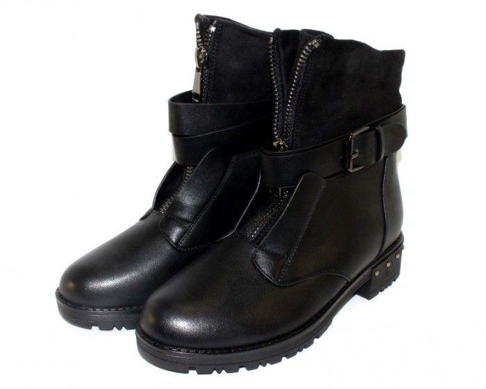 Стильные зимние ботинки купить Запорожье, женская обувь зимняя недорого, купить женские ботинки