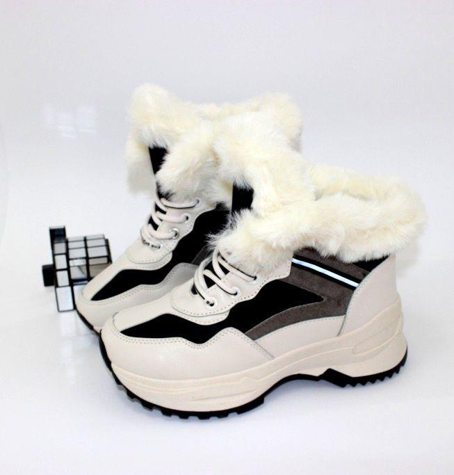 Стильные зимние кроссовки S5-бежевый - купить зимние кроссовки