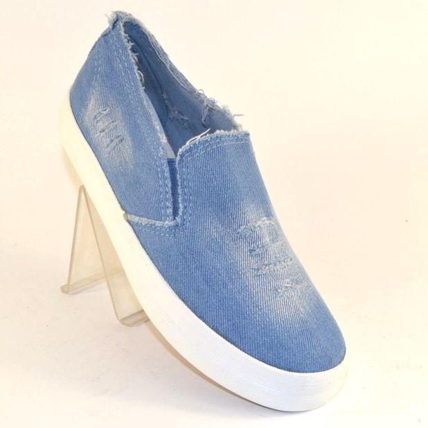Купить джинсовые слипоны кеды недорого по низким ценам