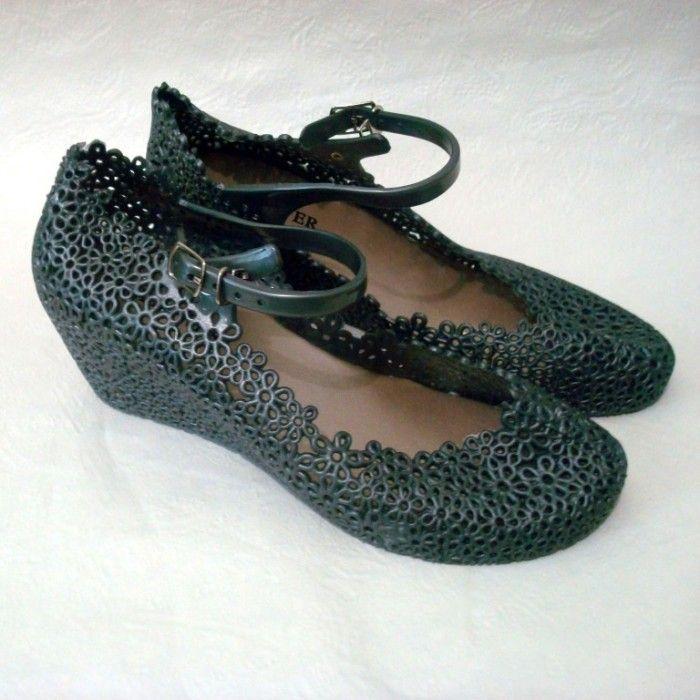 Туфлі силіконові на танкетці недорого, пляжні балетки на танкетці Київ, літнє взуття Київ
