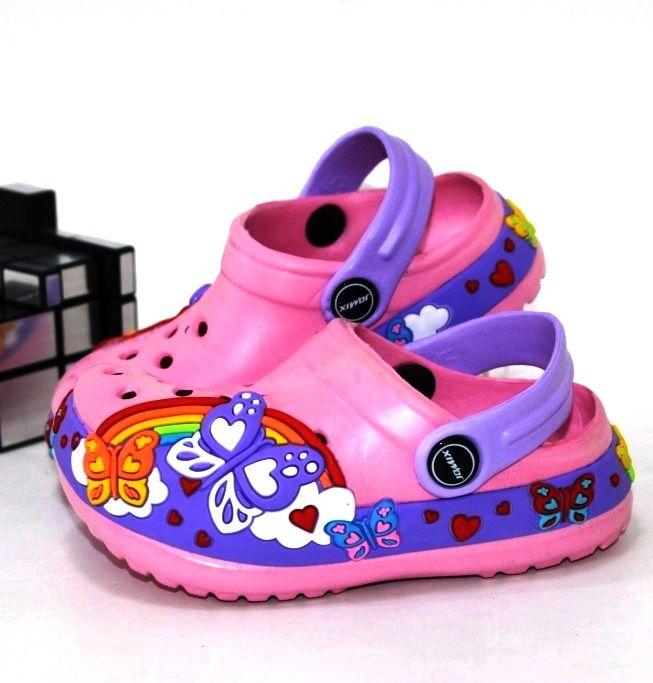 Рожеві крокси для дівчинки 24 25 26 27 28 29