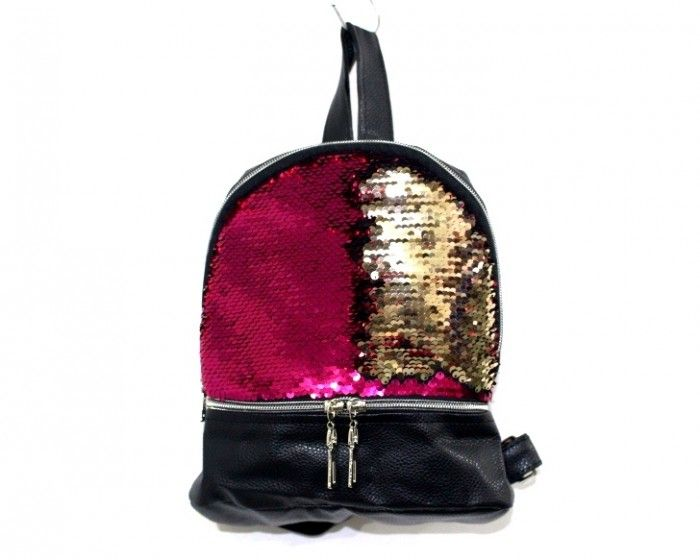 Купить Рюкзак с пайетками 2335 малина недорого Украина, сумки, рюкзаки, клатчи