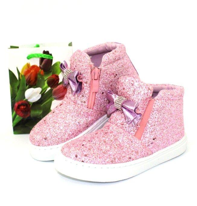 Классные модные ботинки для девочек TL25K-4 PINK - ботинки для девочек демисезон, детская обувь недорого, обувь детская скидки, осенняя обувь