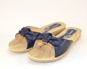Шлёпанцы женские на танкетке, летняя обувь Киев, купить шлёпанцы синие