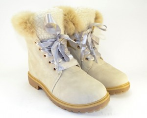 красивые ботинки с опушкой TL0135-3 - купить зимнюю обувь