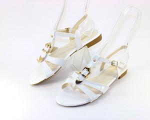Купить босоножки без каблука, женские босоножки 806 white дешево, босоножки Днепр распродажа