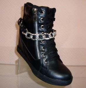 Сникерсы - модные женские высокие кроссовки