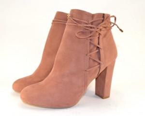 Ботинки весенние и осенние - Замшевые женские ботинки 8807-3 PINK