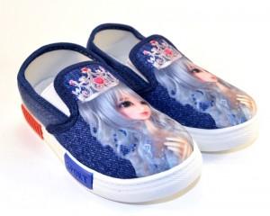 """Прикольные, стильные кеды """"Принцесса"""" F 262-1 - купить детские кроссовки для садика"""