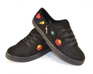Модные молодёжные кеды JX42 BLACK - купить в интернет магазине в Запорожье, Харькове, Донецке, Одессе
