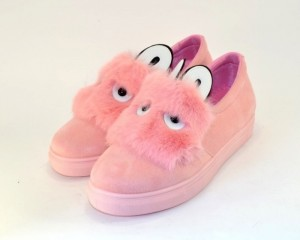 Комфортные розовые туфли-слипоны 1333-5 - женская обувь недорого, туфли женские скидки