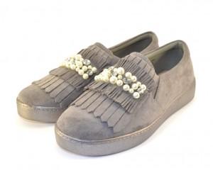 Комфортные повседневные туфли FF051 GREY - женская обувь недорого, туфли женские скидки