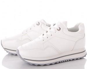 Классные белые кроссовки K1097  - купить в интернет магазине в Запорожье, Днепре, Харькове