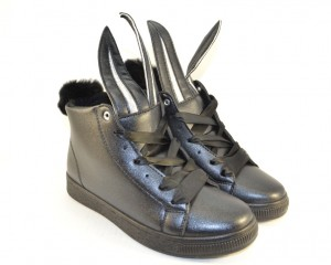 Ботинки весенние и осенние - Оригинальные молодёжные ботинки LXC7484 BLACK