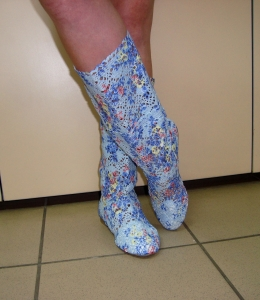 Распродажа летней обуви - вязаные и ажурные сапоги!