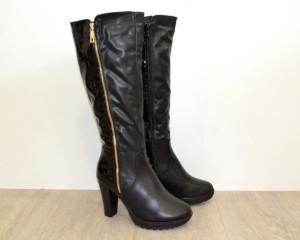 Купить Зимние женские сапоги ZH633 Black - женская зимняя обувь, Запорожье, Днепропетровск, Одесса, Харьков