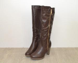 Купить Зимние женские сапоги ZH633 Brown - женская зимняя обувь, Запорожье, Днепропетровск, Одесса, Харьков