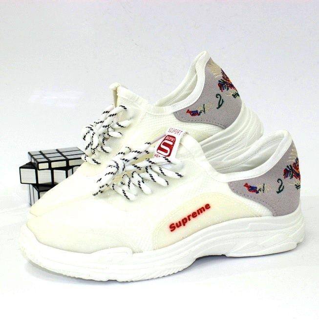 Купити жіноче взуття за низькою ціною, жіночі білі кросівки Запоріжжя, взуття Дніпро