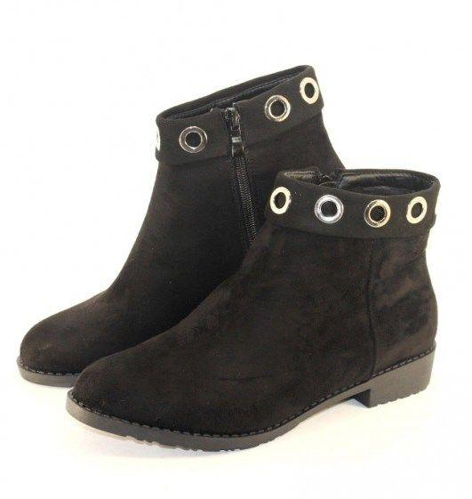 Ботинки весенние и осенние - Комфортные демисезонные ботинки L1216 BLACK