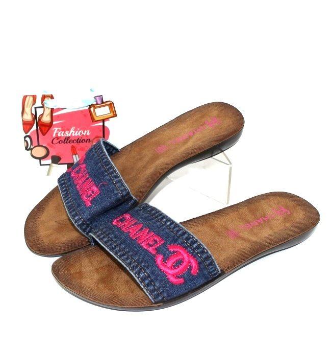 купить шлёпанцы женские джинсовые, женские шлёпанцы недорого, женская летняя обувь Киев, обувь Украина